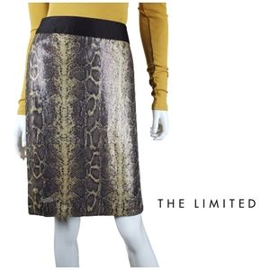 THE LIMITED Sequin Snake Print Pencil Skirt